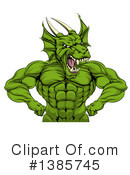 Royalty-Free (RF) Dragon Clipart Illustration #1385745