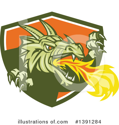 Royalty-Free (RF) Dragon Clipart Illustration by patrimonio - Stock Sample #1391284
