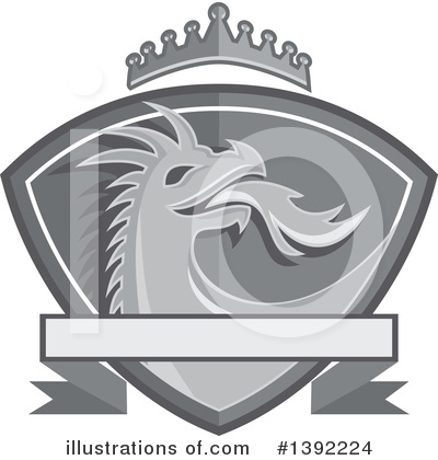 Royalty-Free (RF) Dragon Clipart Illustration by patrimonio - Stock Sample #1392224