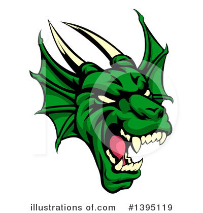 Dragon Clipart #1395119 by AtStockIllustration