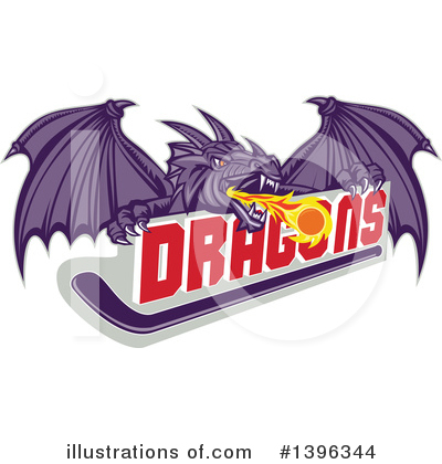 Royalty-Free (RF) Dragon Clipart Illustration by patrimonio - Stock Sample #1396344