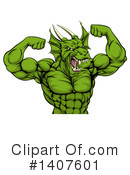 Royalty-Free (RF) Dragon Clipart Illustration #1407601