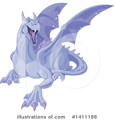 Dragon Clipart #1411188 by Pushkin