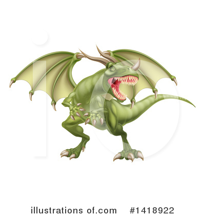Dragon Clipart #1418922 by AtStockIllustration