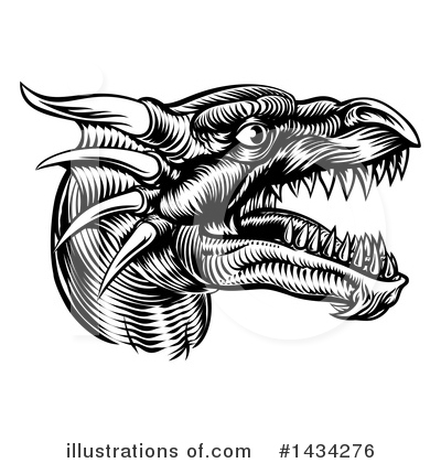 Dragon Clipart #1434276 by AtStockIllustration