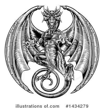 Dragon Clipart #1434279 by AtStockIllustration