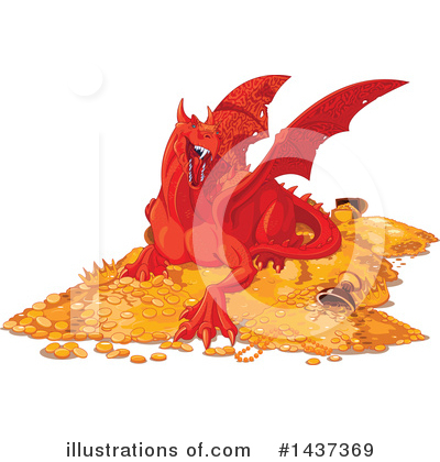 Dragon Clipart #1437369 by Pushkin