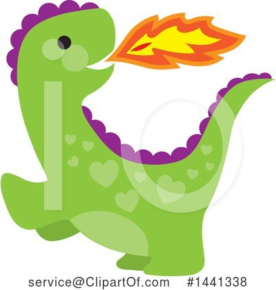 Dragon Clipart #1441338 by Maria Bell