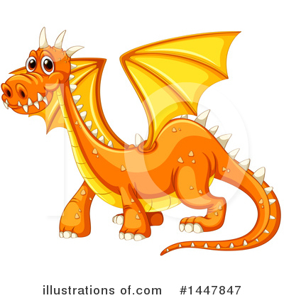 Royalty-Free (RF) Dragon Clipart Illustration by Graphics RF - Stock Sample #1447847