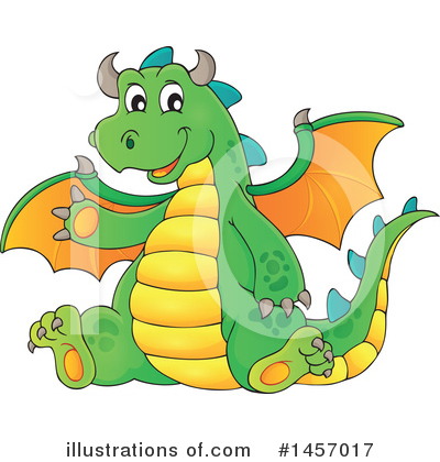 Dragon Clipart #1457017 by visekart