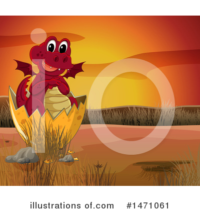 Royalty-Free (RF) Dragon Clipart Illustration by Graphics RF - Stock Sample #1471061