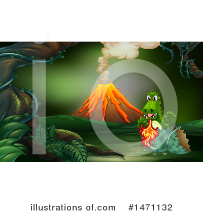Volcano Clipart #1471132 by Graphics RF