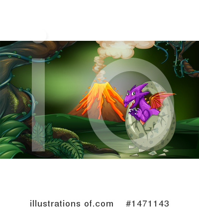 Volcano Clipart #1471143 by Graphics RF