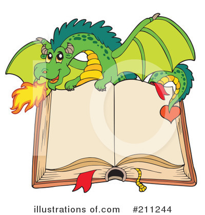 Royalty-Free (RF) Dragon Clipart Illustration by visekart - Stock Sample #211244
