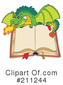 Royalty-Free (RF) Dragon Clipart Illustration #211244