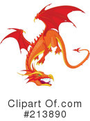Royalty-Free (RF) Dragon Clipart Illustration #213890