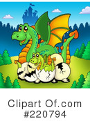 Royalty-Free (RF) dragon Clipart Illustration #220794