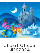 Royalty-Free (RF) dragon Clipart Illustration #222094