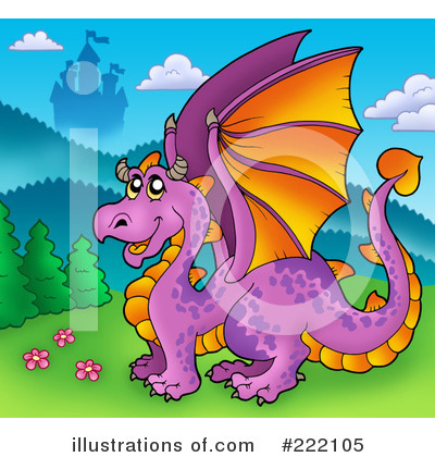 Royalty-Free (RF) Dragon Clipart Illustration by visekart - Stock Sample #222105