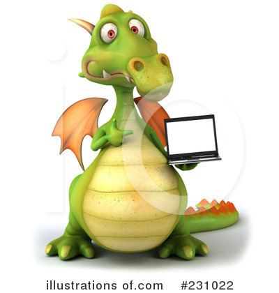 Royalty-Free (RF) Dragon Clipart Illustration by Julos - Stock Sample #231022