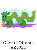 Royalty-Free (RF) Dragon Clipart Illustration #28029