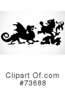 Royalty-Free (RF) Dragon Clipart Illustration #73688