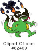 Royalty-Free (RF) Dragon Clipart Illustration #82409