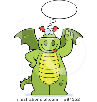 Royalty-Free (RF) Dragon Clipart Illustration by Cory Thoman - Stock Sample #94352
