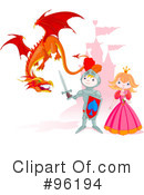 Royalty-Free (RF) dragon Clipart Illustration #96194