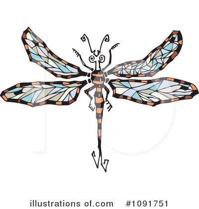Dragonfly Clipart #1091751 by Steve Klinkel