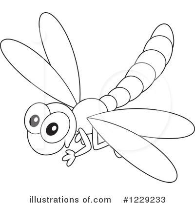 Dragonfly Clipart #1229233 - Illustration by Alex Bannykh