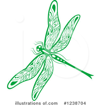 Dragonfly Clipart #1238704 by Vector Tradition SM