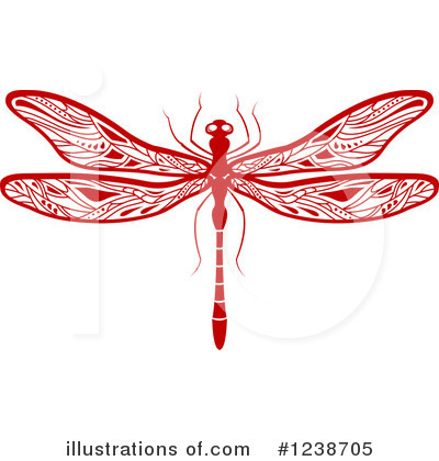 Dragonfly Clipart #1238705 by Vector Tradition SM