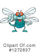 Royalty-Free (RF) Dragonfly Clipart Illustration #1272837