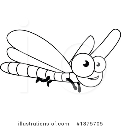 Dragonfly Clipart #1375705 by Vector Tradition SM