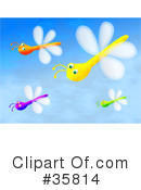 Royalty-Free (RF) Dragonfly Clipart Illustration #35814