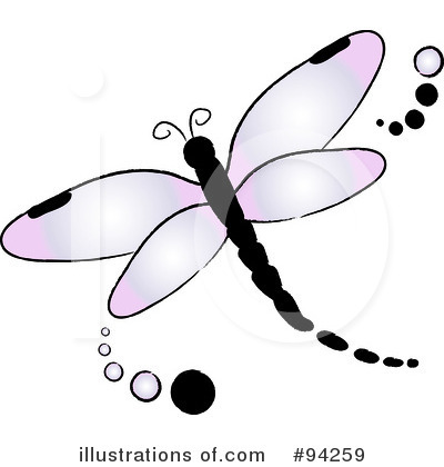 Royalty-Free (RF) Dragonfly Clipart Illustration by Pams Clipart - Stock Sample #94259