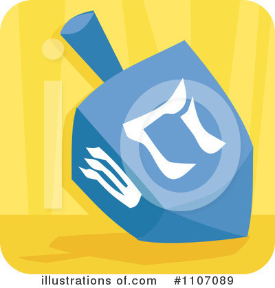 Dreidel Clipart #1107089 by Amanda Kate