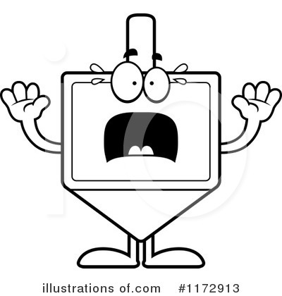 Dreidel Clipart #1172913 by Cory Thoman