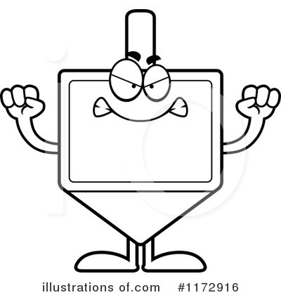 Dreidel Clipart #1172916 by Cory Thoman
