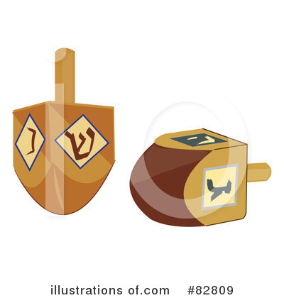 Royalty-Free (RF) Dreidel Clipart Illustration by Pams Clipart - Stock Sample #82809