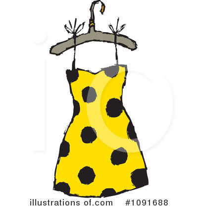 Dress Clipart #1091688 by Steve Klinkel