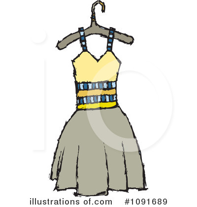 Royalty-Free (RF) Dress Clipart Illustration by Steve Klinkel - Stock Sample #1091689
