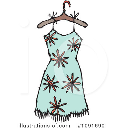 Dress Clipart #1091690 by Steve Klinkel
