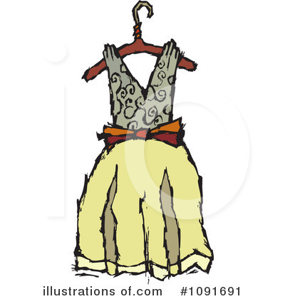 Dress Clipart #1091691 by Steve Klinkel