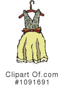 Royalty-Free (RF) Dress Clipart Illustration #1091691