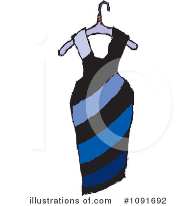 Dress Clipart #1091692 by Steve Klinkel