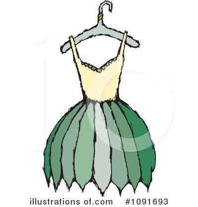 Dress Clipart #1091693 by Steve Klinkel