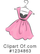 Royalty-Free (RF) Dress Clipart Illustration #1234863