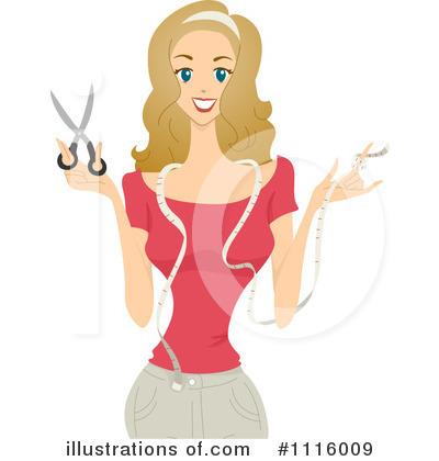 Royalty free rf dressmaker clipart illustration by bnp design studio